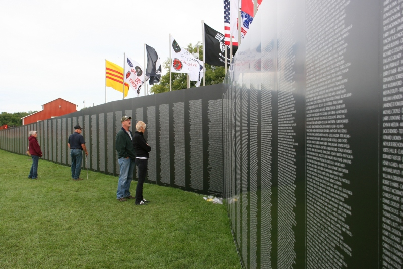 Thousands came to view the temporary wall in Faribault.
