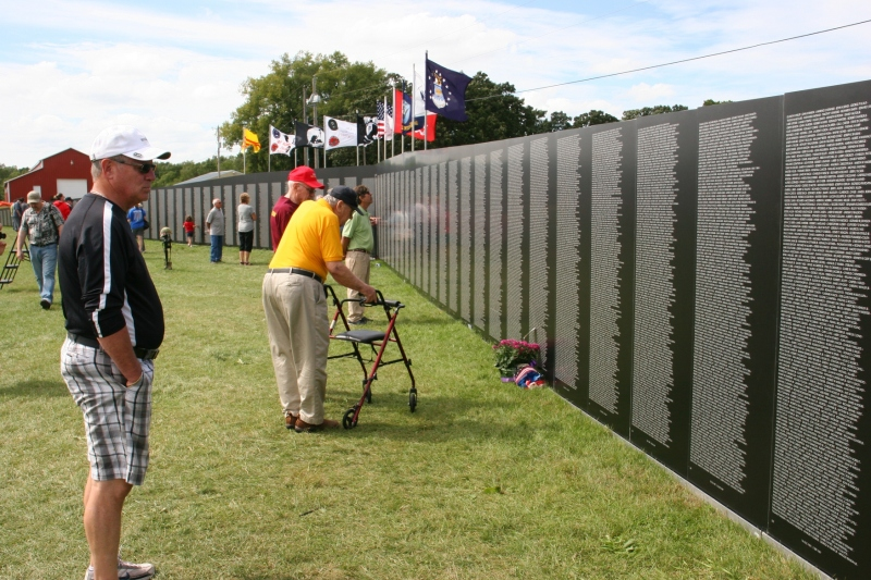 Thousands remembered as they visited the Traveling Vietnam Memorial Wall in Faribault.
