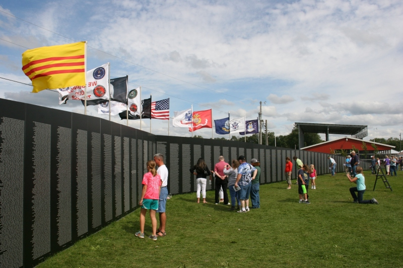 The traveling wall drew thousands to Faribault during a several day showing at the Rice County Fairgrounds.