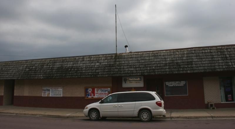 Bullheads Bar & Grill, one of several bars in Waterville.