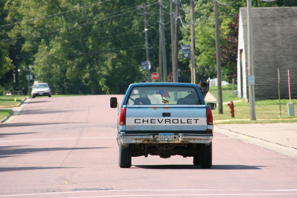 A recent street scene from small town Waterville, Minnesota.