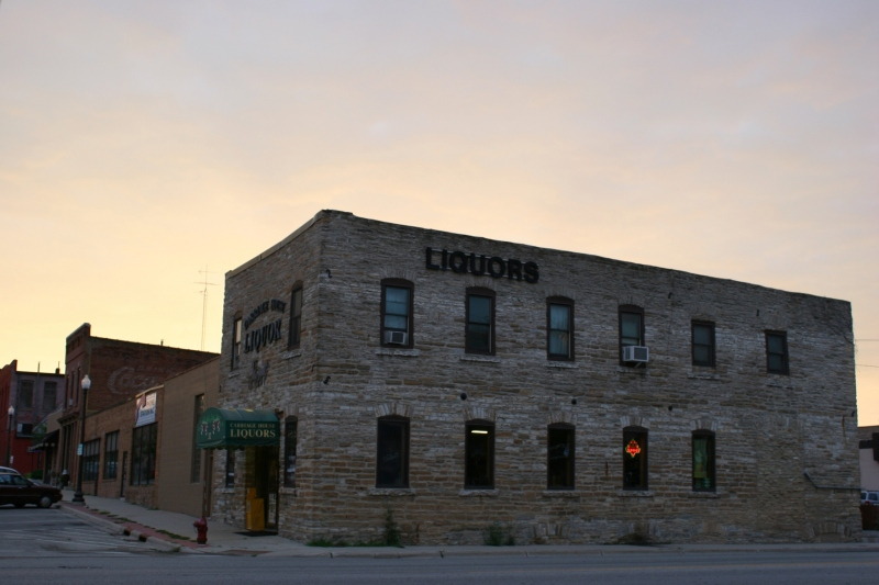 The Adam Weyer Wagon Shop, built of limestone in 1874, is among historic buildings on the tour.
