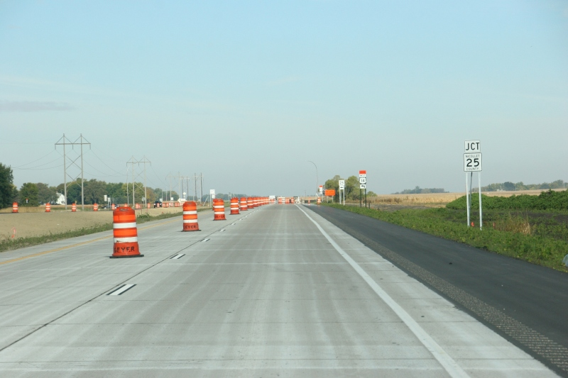 U.S. Highway 14 under construction between Mankato and Nicollet.