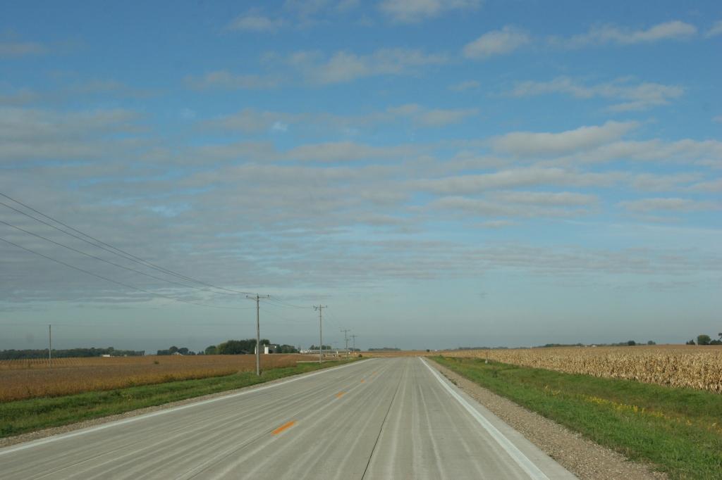 On the detour route.