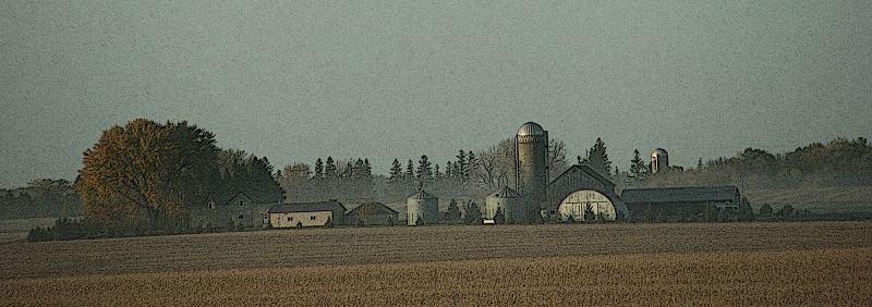 A farm site between Kenyon and Faribault.