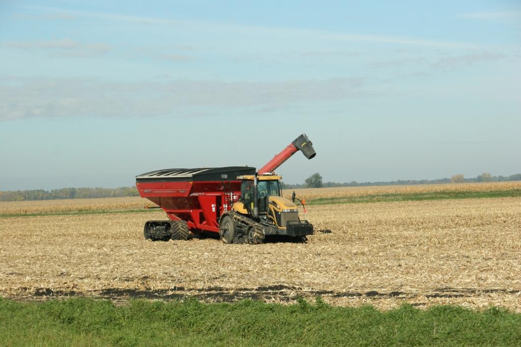 Harvest started west of St. Peter.
