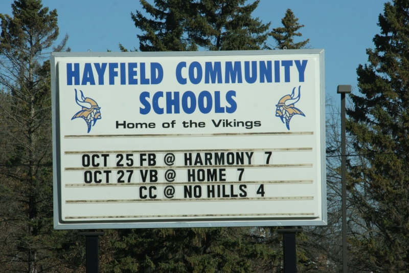 rural-mn-53-hayfield-school-sign