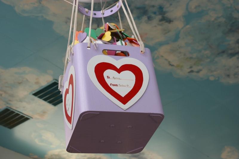 The basket of a hot air balloon.