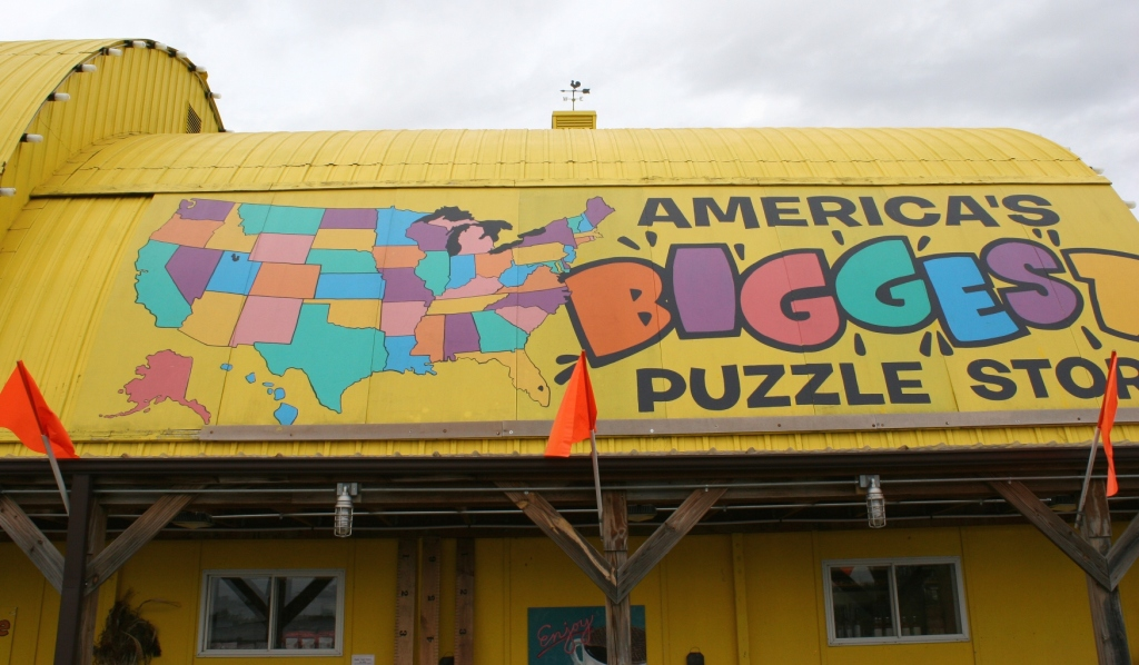 Another surprise: Lots and lots and lots of puzzles for sale, as advertised on the business signage.