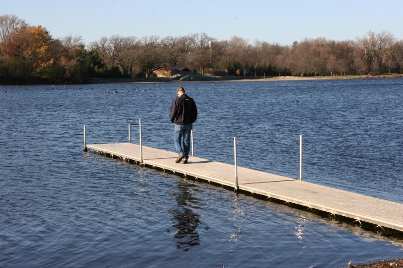 Checking out Lake Kohmier at the boat landing.
