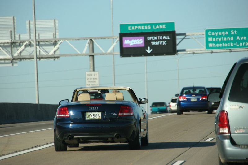 Cruisin' with the top down along Intersate 35E north of St. Paul Saturday afternoon.