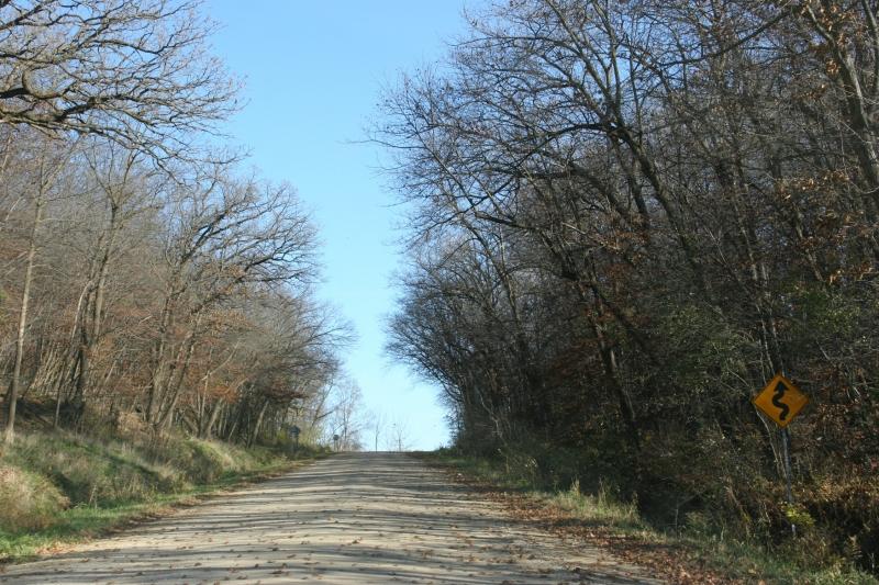 Following a gravel road near Clinton Falls in Steele County.