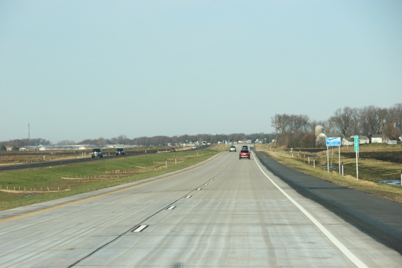 Westbound on the new Highway 14 heading to Nicollet.