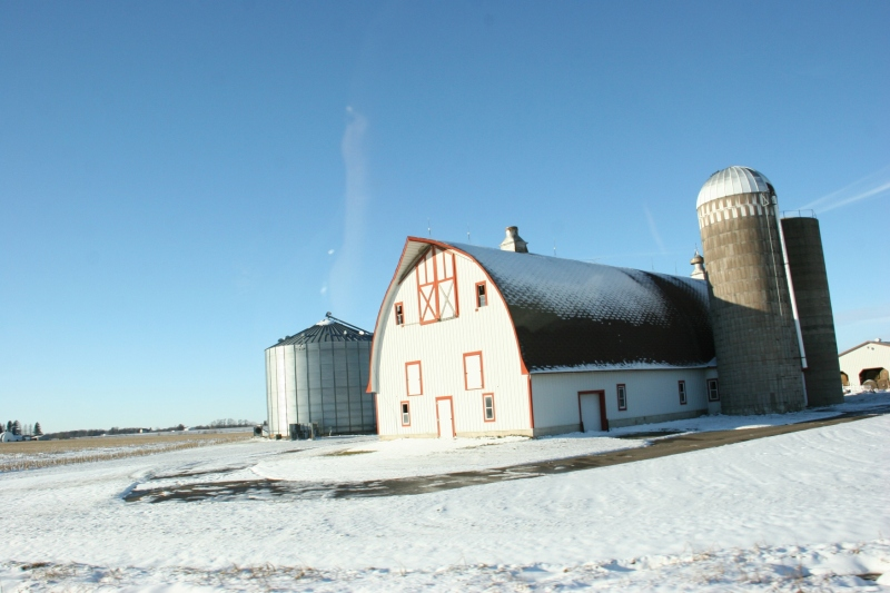 A scene along Minnesota State Highway 23 between Foley and St. Cloud on Sunday afternoon.