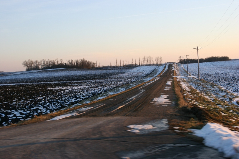 This gravel road connects to Minnesota State Highway 19 between Vesta and Redwood Falls.