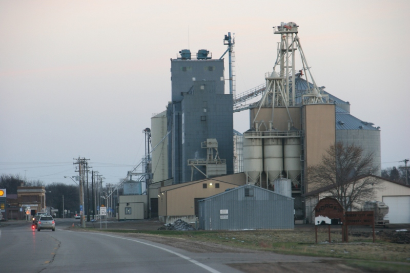 The grain elevator in Morgan.