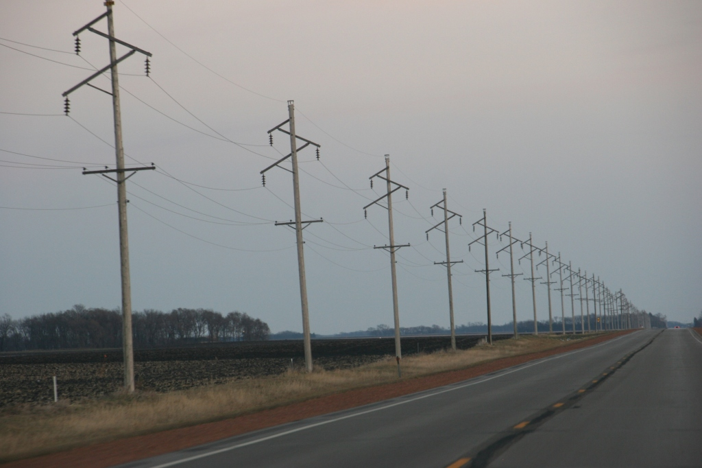 Every trip back along Minnesota State Highway 67, I am drawn to photograph the electrical lines that stretch seemingly into forever.
