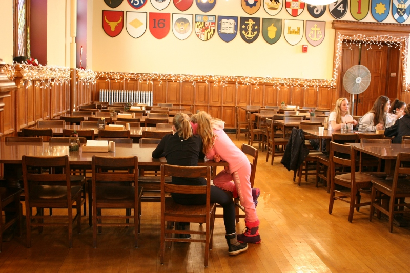 Inside the historic dining hall.