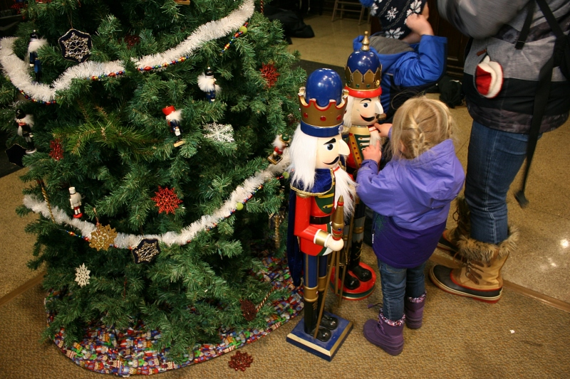 These nutcrackers fascinated the kids.