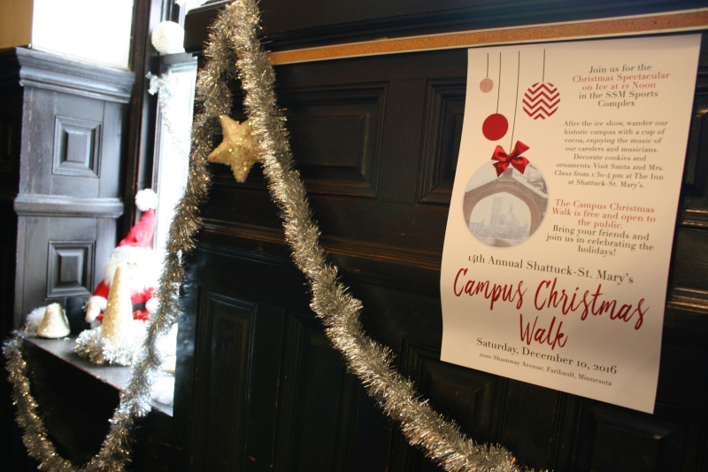 Window sills, nooks, hallways and more are decorated for the Christmas Walk.