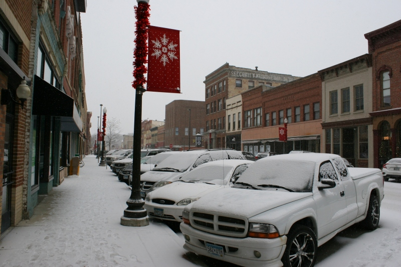 Downtown Faribault last Saturday afternoon, here looking south on Central Avenue.
