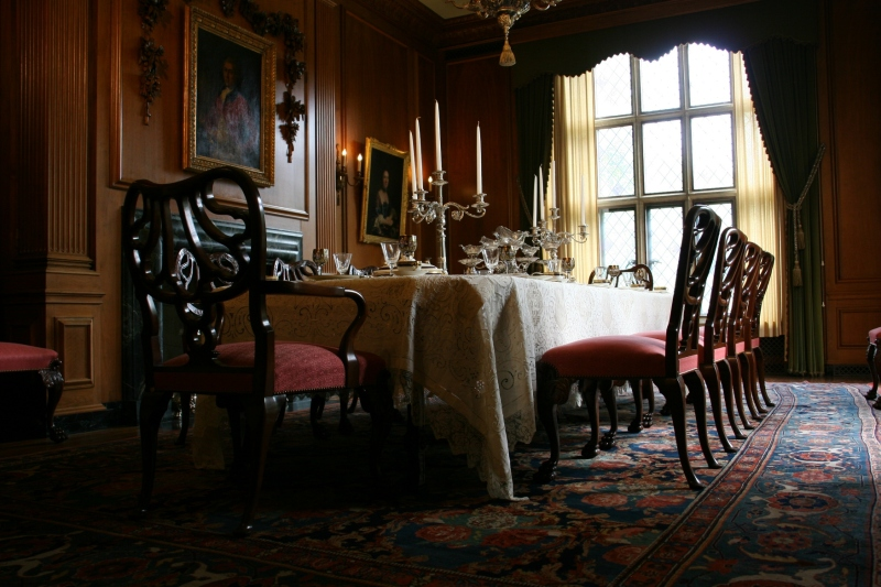 The luxurious dining room.