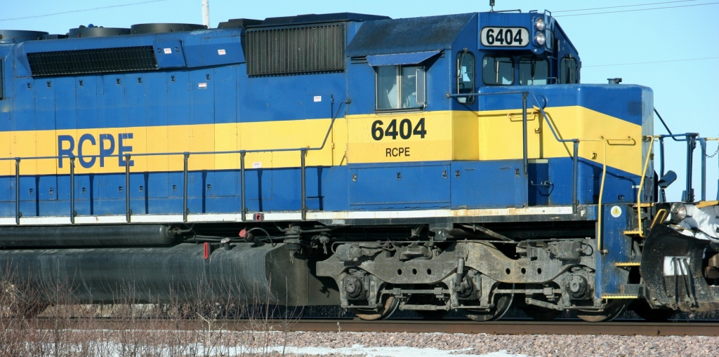 Powering into a new year, symbolism in a locomotive photographed along US Highway 14 between Owatonna and Janesville.