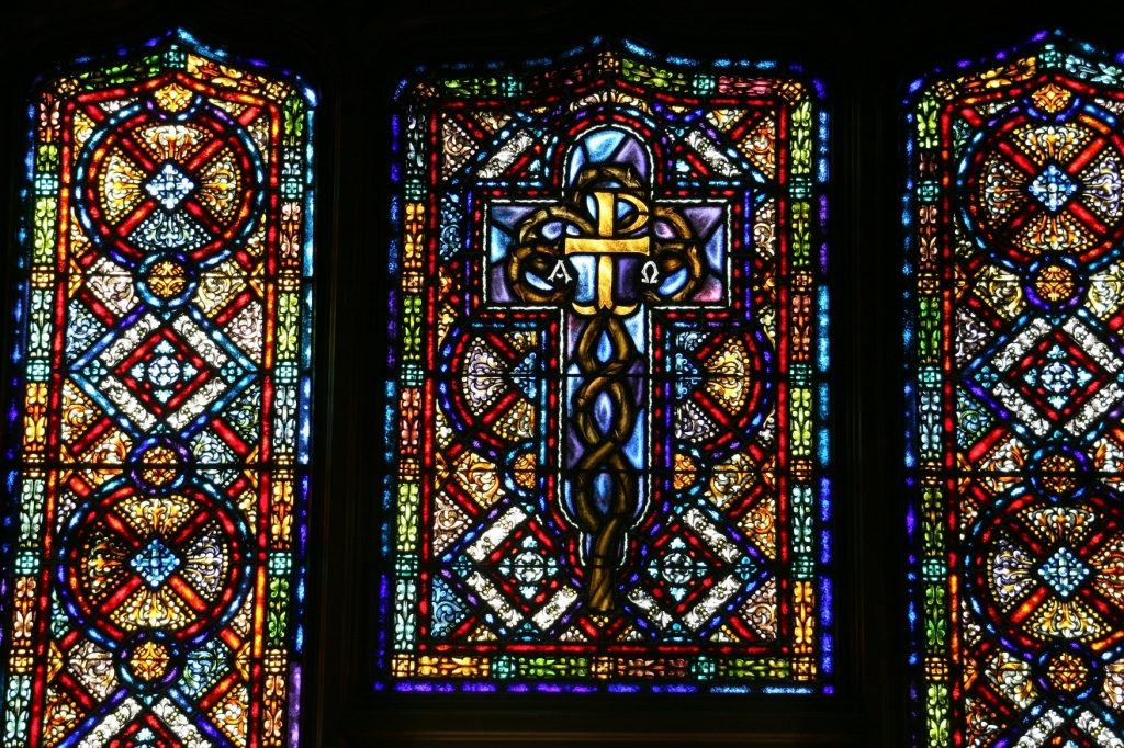 How lovely the stained glass.