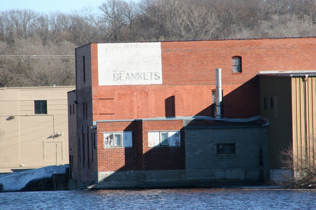 In the upper left corner of the mill, the sign unnoticed by me until several days ago.