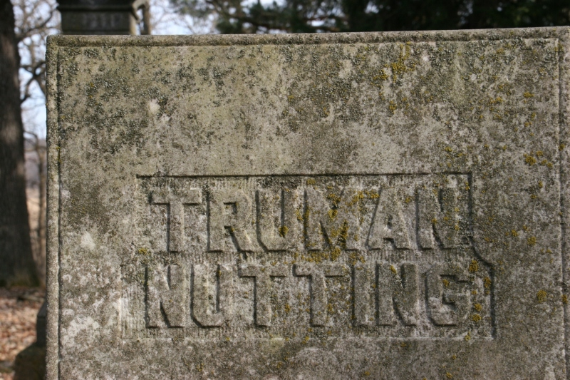 Truman Nutting was born in 1807 and died in 1891.