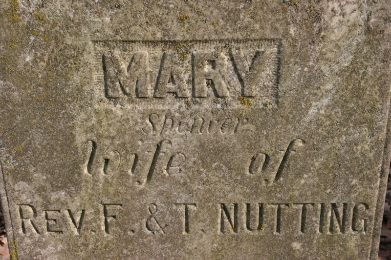 Mary Spencer Nutting was born in 1814 and died in 1904.