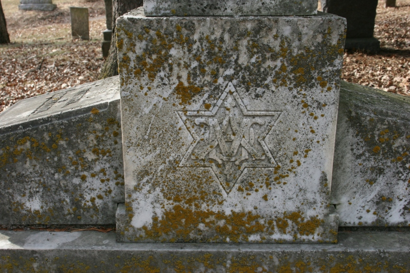 I've visited many rural Minnesota cemeteries. This is the first Star of David I've found on a tombstone.