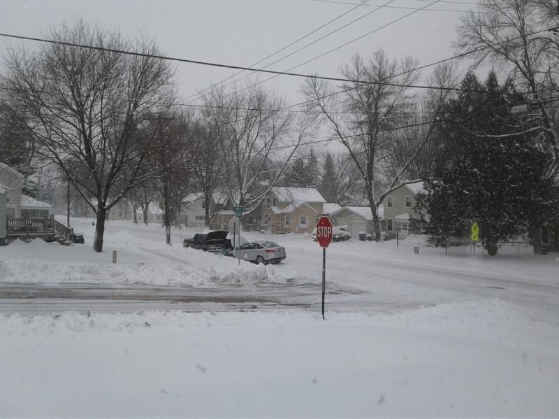 My neighborhood on Friday morning.