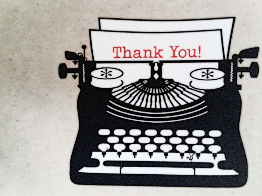A handwritten thank you card is always a good way to show your appreciation for someone.