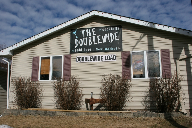 The Doublewide is home of the signature The Doozy Bloody Mary.