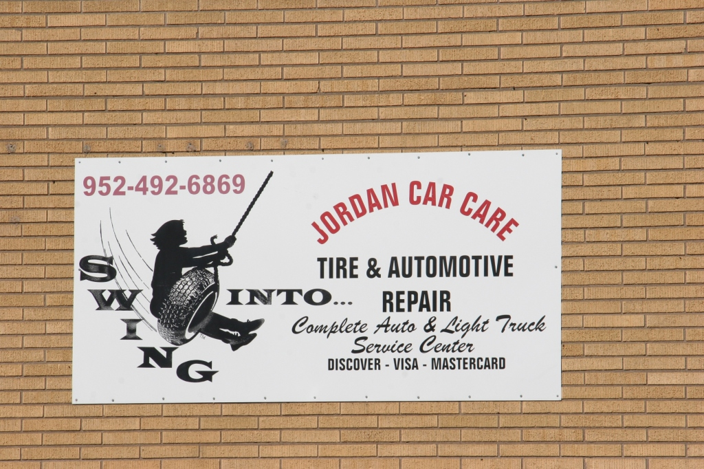 Another eye-catching sign outside a local garage.