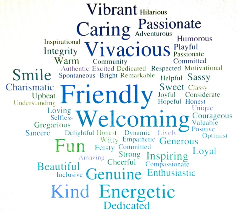 The words in this word cloud describe Barb Larson.