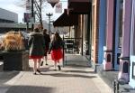 Downtown La Crosse, #116 bridesmaids walking to ThePearl