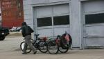 Downtown La Crosse, #21 man walkingbike