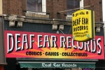 Downtown La Crosse, #51 Deaf Ear Records signs up close