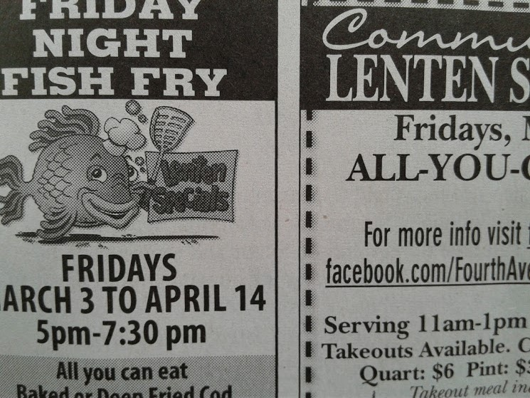 A snippet of two side-by-side ads that published on Thursday in the Faribault Daily News.