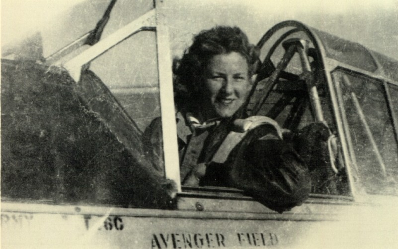 Elizabeth Wall Strohfus, circa 1943, at Avenger Field. (Photo from family archives.)