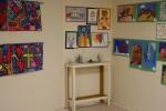 Student art, #81 art in corner & along 2walls