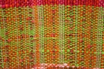 Weaving, #67 close-up green andorange
