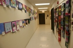 Weaving, #84 hallway with weaving onright