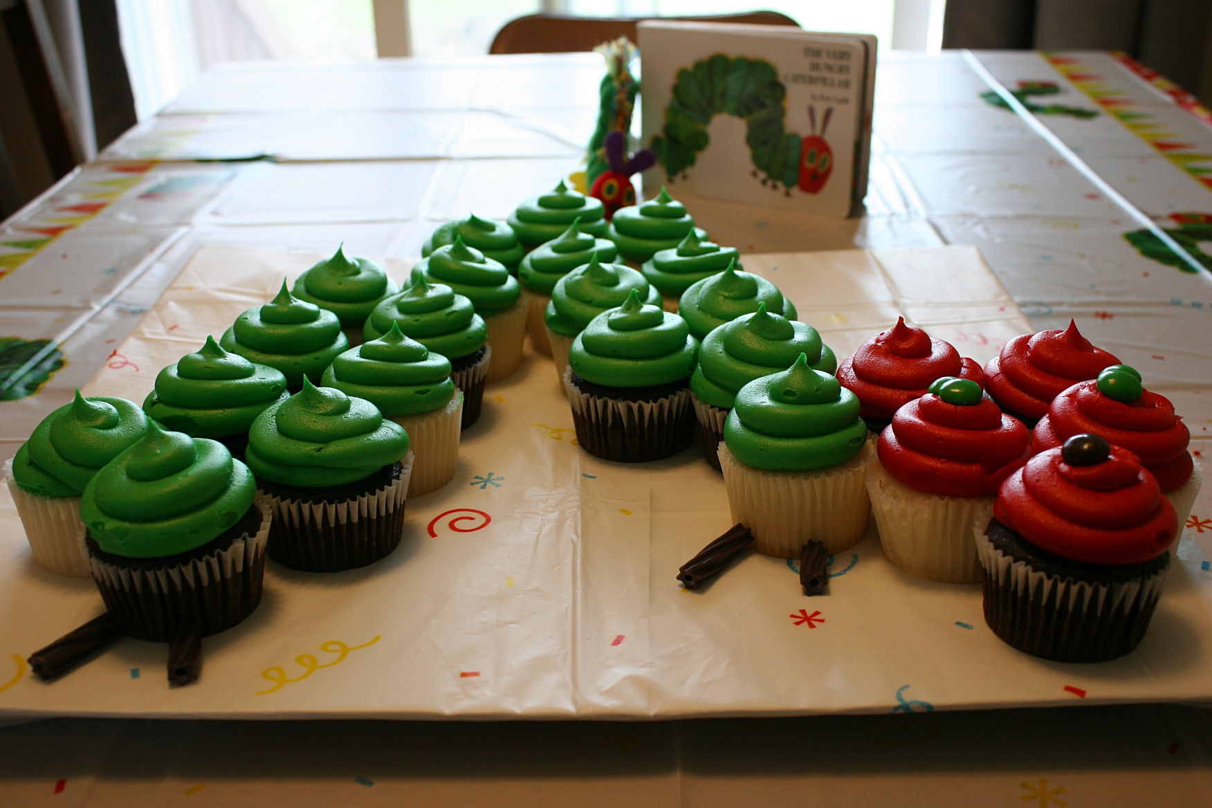 My Granddaughter Turns One A Celebration In Images Words Birthday 68 Caterpillar Cupcake Cake