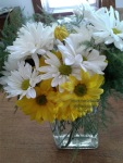recovery, daisy bouquet