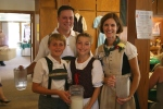 Church fest, German costumes #127 family serving