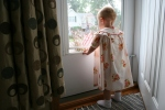 Strawberry Shortcake dress, #26 back of Izzy in doorwayphoto