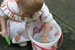 Strawberry Shortcake dress, #37 Izzy playing inwater